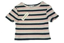 Girls River Island Striped Pink Top Size 3-4 Years