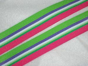 "Beach Stripe Ribbon for Bows Scrapbooking Wreaths Clothing 3y - 7/8""  DIY Crafts"