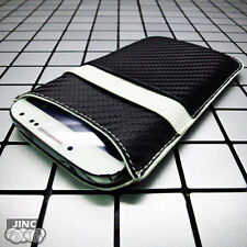 Carbon-Fiber Sleeve Case Cover Pouch for Samsung GT-i9500 Galaxy S4/SIV/S 4/S IV