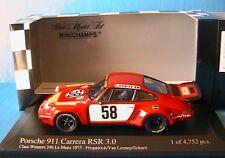 PORSCHE 911 CARRERA RSR 3.0 #58 24H LE MANS 1975 FITZPATRICK VAN LENNEP SCHURTI