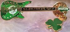 Hard Rock Cafe OSAKA 2003 St. Patrick's Day PIN Green Aria Bass +Shamrock #17359