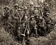 WWII US MARINE RAIDERS BOUGAINVILLE VINTAGE PHOTO USMC WORLD WAR II 1944 #21227