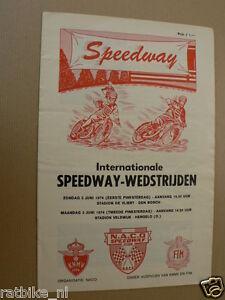 1974 INT.SPEEDWAY WEDSTRIJDEN 2 EN 3 JUNI DEN BOSCH,HENGELO,WEIS,JEPSEN,ELEFANT,