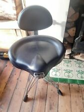 More details for mapex t775 saddle top drum throne with back rest - black