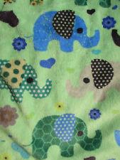 Cute Elephant Baby Taggie Tag Blanket Comforter Lovey Boy Girl Ribbon Teething