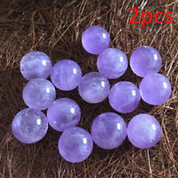 2x Natural Amethyst Quartz Stone Sphere Crystal Fluorite Ball Healing GemstoneNT