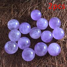 2x Natural Amethyst Quartz Stone Sphere Crystal Fluorite Ball Healing GemstoneHC