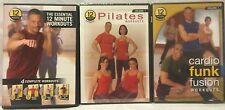 3 12 minute essential workout DVD lot pilates cardio funk fusion Robert Ferguson