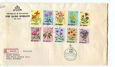 1971 FDC San Marino Fiori 4° serie Registered RACCOMANDATA First Day Cover