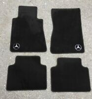 For Mercedes Benz W126 Pre Merger Floor mats Black embroidery Logo LHD 4pcs