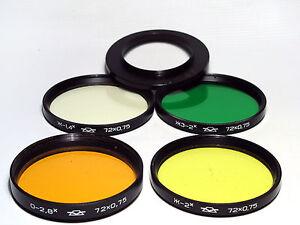 4 72mm  Russian Pfotosniper KMZ rare colour  filters. EX!