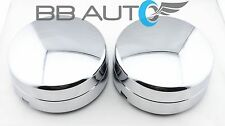 2003-2017 DODGE RAM 3500 1-TON DUALLY REAR WHEEL CHROME CENTER HUB CAPS PAIR