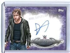 WWE Dean Ambrose 2015 Topps Undisputed Purple Authentic Autograph Card SN 23/25