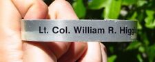 US Military MIA POW Bracelet Col. William R. HIggins