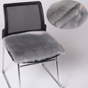 Faux Fox Fur Cushion Chair Car Seat Pad Sofa Cover Furry Soft Rug Carpets Luxury