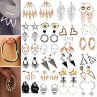 2018 Mode Donna Chic Metallo Orecchini gancio Ear Hook Stud gioielli NUOVO