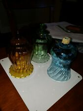 Vintage Homco Glass Votive Sconce Cup Candle Holder Peg Tall Blue Swirl Huge Lot