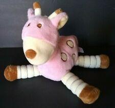 "Kids Preferred Pink Baby Giraffe Plush Soft Toy Cream Dots Brown 11"" HA YZ 910"