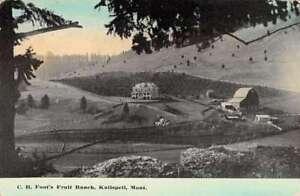 Kalispell Montana Foots Fruit Ranch Birdseye View Antique Postcard K86193