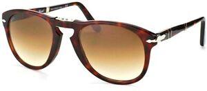 NWT Persol Sunglasses PO 714 24/51 Havana Foldable / Gradient Brown 52mm NIB