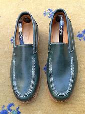 John Lobb Homme Chaussures en cuir vert Mocassins UK 6 US 7 EU 40 nautique pont Miami