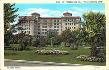 Postcard S136 Soreno Hotel St Petersburg FL The Sunshine City W-Border Unused A1