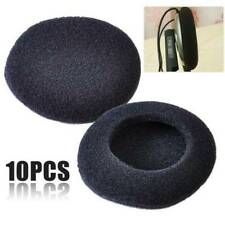 10Pcs Black Soft 50mm Replacement Ear Pad Bud Foam Earbud Cover For Earphones