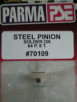 Parma 70109 NEW 8 Tooth 64 Pitch Solder On Brass Pinion Gear - Qty. 1