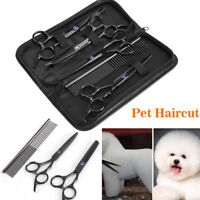 7Pcs/Set Professional Hair Cutting Pet Dog Cats Scissor Groom Curved Shear Kit