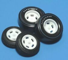 1/25 Jo-Han Vintage Fenton Dish 5 Hole Drag Thin & Wide Resin Mags with Tires