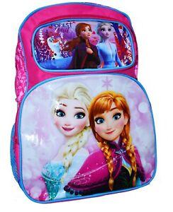 NEW LARGE KIDS BACKPACK SCHOOL DISNEY FROZEN GIRLS BOYS TOY STORY POKEMON GIFT