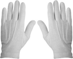 White Military Cotton Dress Parade Gloves