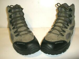 MENS MERRELL SAWTOOTH GRAY HIKING BOOTS SHOES SIZE 11.5 11 1/2