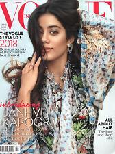 VOGUE INDIA Juni 2018 -Bollywood- Englischsprachiges Mode-Magazin aus Indien
