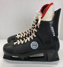Vintage Micron Mascot Ice Hockey Skates size 8 D senior sr sz rare vtg black