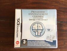 PROGRAMME D'ENTRAINEMENT CEREBRAL pour NINTENDO DS