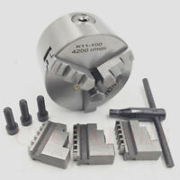 "100mm Precision Lathe Chuck K11-100 3-jaw 4"" Self-centering 4Inch Hardened Steel"