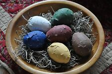 Primitive Handmade Paper Mache Easter Eggs or Anytime Eggs Folk Art Decor