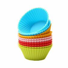5 Pcs Silicone Cup Cake Muffin Chocolate Cupcake Cases Baking Cup Cookie Mould