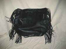 Victoria's Secret Backpack Bag Tote Black w/Fringe   **√7943**