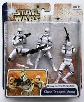 NEW Star Wars Clone Wars Clone Trooper Army White Hasbro 2003