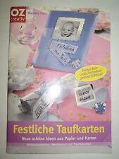 Bastelbuch 'Festliche Taufkarten', OZ-Verlag, mit Vorlagenbogen, neu