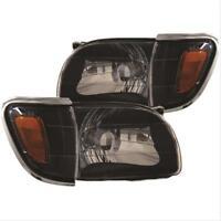 ANZO Crystal Headlights Black w/ Corner Lights For 01-04 Toyota Tacoma #121190