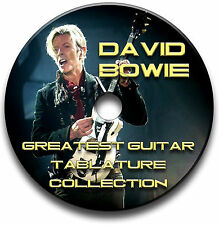 DAVID BOWIE POP ROCK GUITAR TAB TABLATURE SONG BOOK ANTHOLOGY SOFTWARE CD