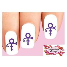 Waterslide Nail Decals Set of 20 - Artist Formerly Known as Prince Symbol Purple
