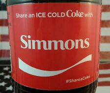 Share A Coke With Simmons Limited Edition Coca Cola Bottle 2017 USA