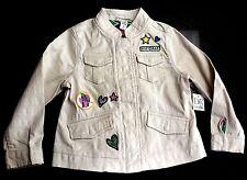Baby Gap Girls DVF Ivory Beige Cotton Safari Badge Utility Jacket 2-5y 3 Years