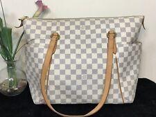 100% Authentic LOUIS VUITTON Totally MM Damier Azur shoulder bag