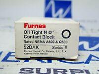 FURNAS 52BAK OIL TIGHT CONTACT BLOCK A600+Q600 NEW