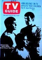 TV Guide 1968 Star Trek Leonard Nimoy Shatner Kelly Spock Kirk Bones EX/NM COA
